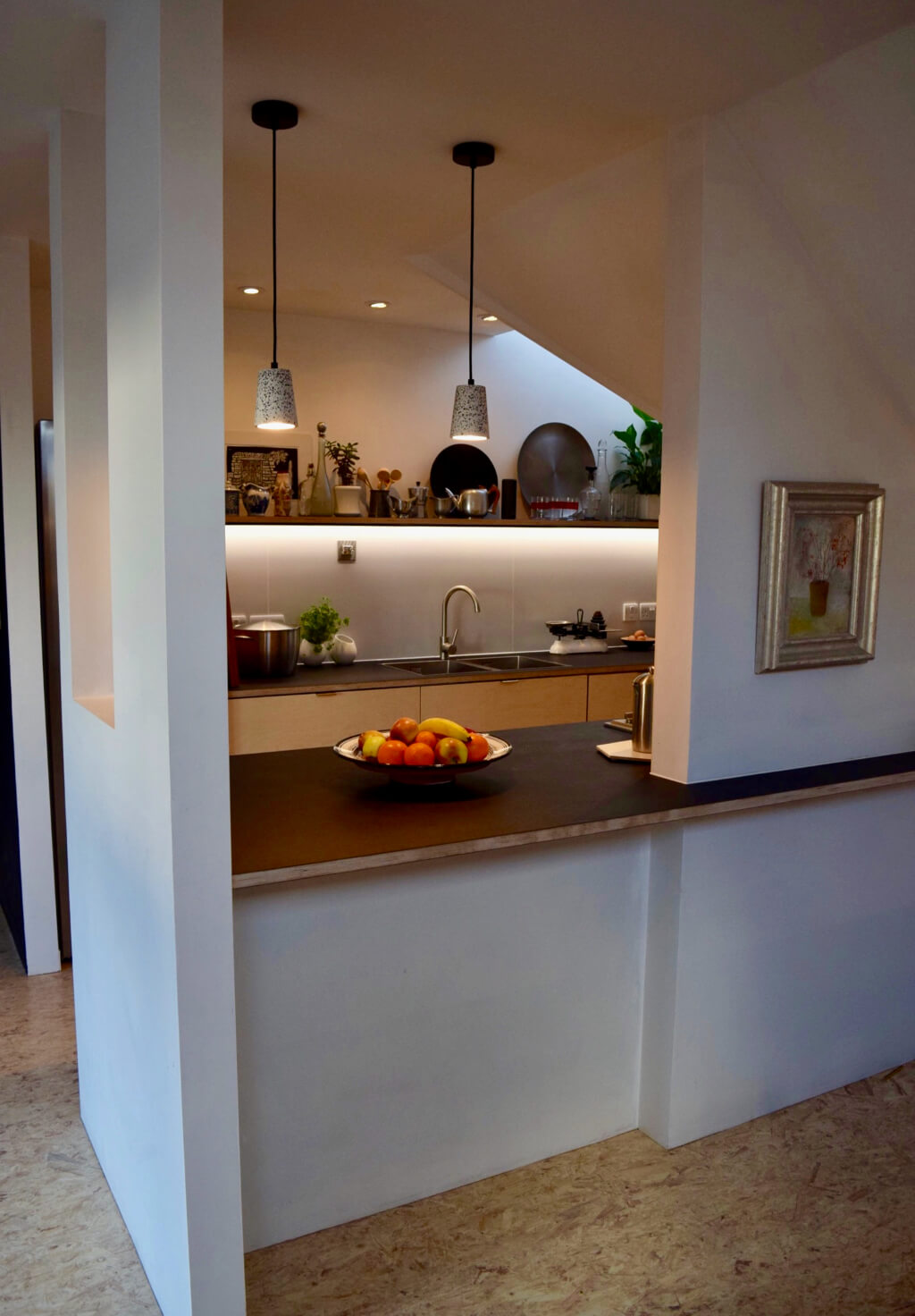 King's Construction | Apartment Renovation | Kitchen from Living Room | London SE16