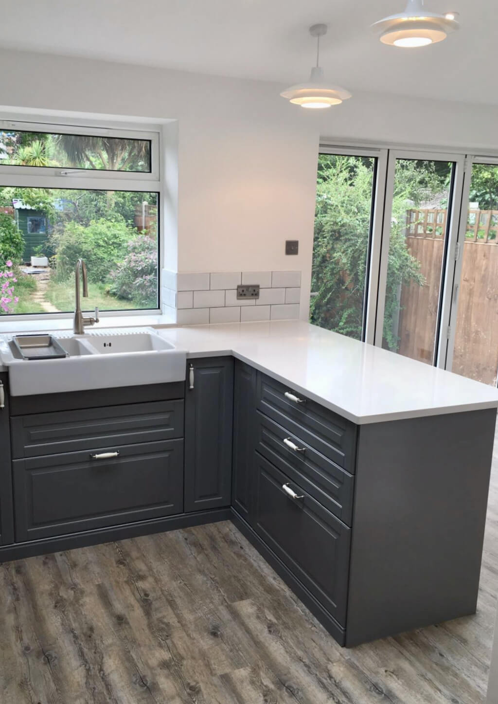 King's Construction | Ground Floor Extension Open Plan Kitchen | Lee Green, South London