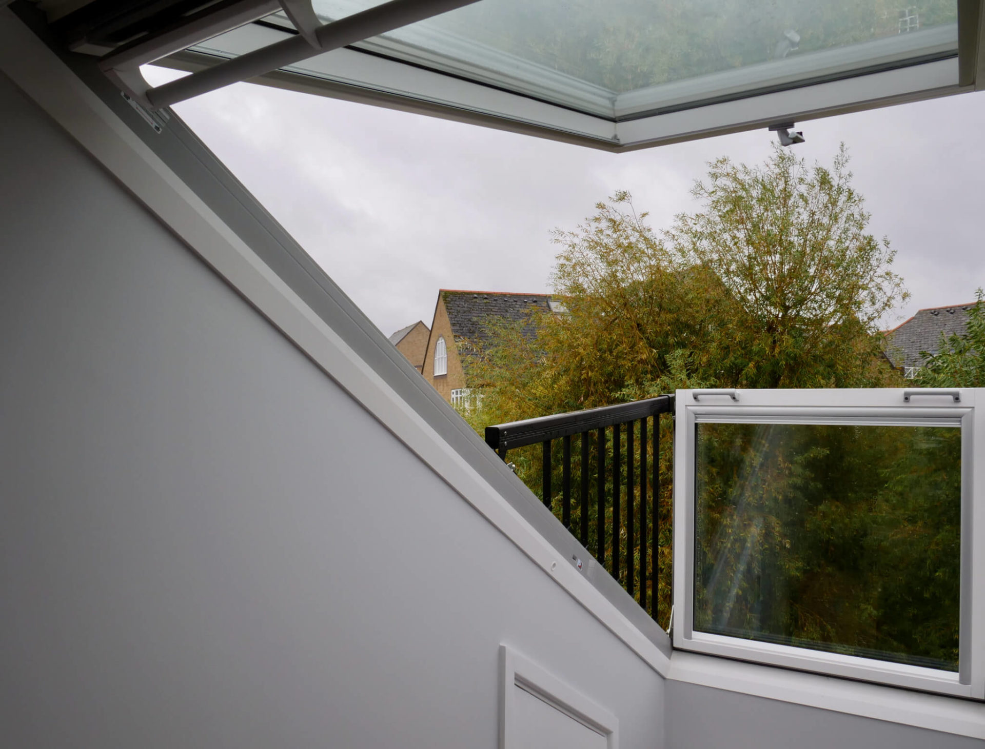 King's Construction | Looking Out Of Velux Balcony Window | Loft Conversion